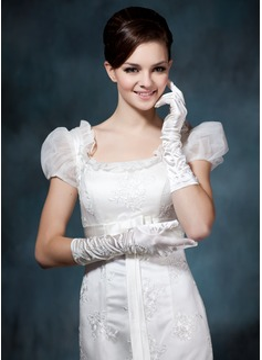 Elastische Satin Ellenbogen Länge Braut Handschuhe (014020476)