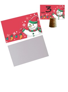 50pcs/set Snowman Blank Cards DIY New Year Party Decoration Materials - 9 x 5.5 cm (Set of 50) (051193819)