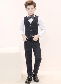 Boys 4 stycken Elegant Passar till ringbärare /Page Boy Suits med Skjorta Väst Byxor Fluga (287204958)