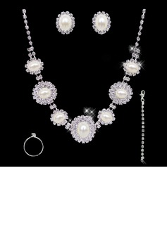 Elegant Alloy With Rhinestone Women's Jewelry Sets (011004470)
