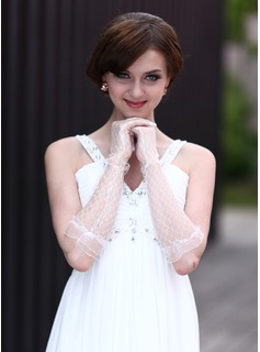 Tulle Elbow Length Party/Fashion Gloves/Bridal Gloves (014003781)