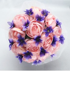 Pretty Round Satin/Cotton Bridal Bouquets (123031451)