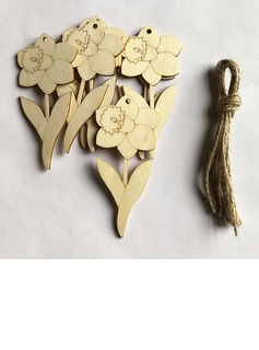 Simple/Beautiful Nice/Lovely Wooden Wedding Ornaments (set of 10) (131178939)