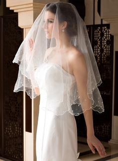 Uno strato Velare da sposa valzer con Bordo in perle/Merlato (006036665)