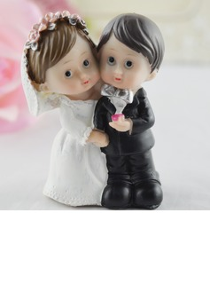 Figurine Bride And Groom Resin Wedding Cake Topper (119057615)