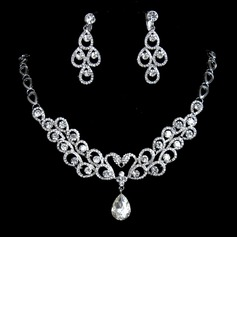 Elegant Alloy/Rhinestones Women's Jewelry Sets (011017103)