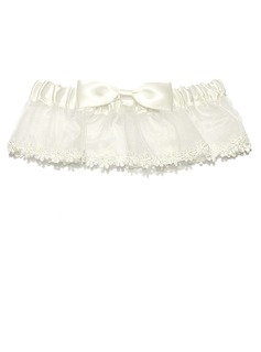 Charming Organza With Bowknot Wedding Garter Skirt (104024545)