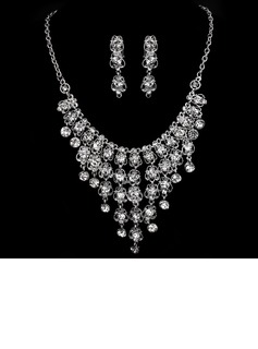 Beautiful Alloy/Rhinestones Ladies' Jewelry Sets (011005476)