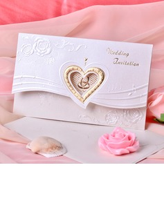 Heart Style Tri-Fold Invitation Cards (Set of 50) (114033291)