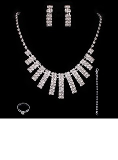 Elegant Alloy With Rhinestone Ladies' Jewelry Sets (011005492)
