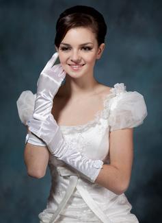 Elastische Satin Ellenbogen Länge Braut Handschuhe (014020503)