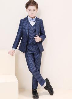 Boys 5 stycken Elegant Passar till ringbärare /Page Boy Suits med Jacka Skjorta Väst Byxor Fluga (287204965)