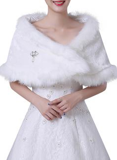 Pelliccia ecologica Matrimonio Coprispalle (013184375)