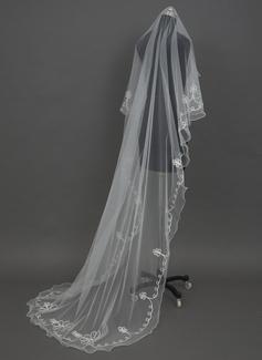 1 couche Voiles de mariée cathédrale avec Liseret (006034463)