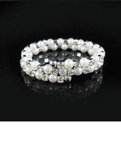 Elegant Alloy With Pearl/Rhinestone Ladies' Bracelets (011028957)