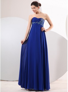 Cheap Evening Dresses Empire Sweetheart Floor-Length Chiffon Evening Dress With Ruffle Beading (017014047)