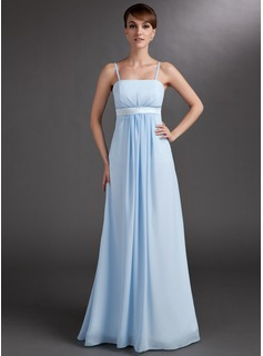 Empire Floor-Length Chiffon Maternity Bridesmaid Dress With Ruffle (045004393)