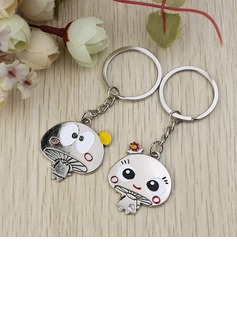 Classic Lovely Mushroom Zinc alloy Keychains (Set of 6 Pairs) (120032166)