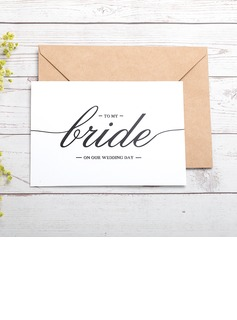 Bride Gifts - Classic Paper Wedding Day Card (255184422)