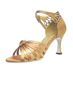 Frauen Satin Heels Sandalen Latin Tanzschuhe (053013247)
