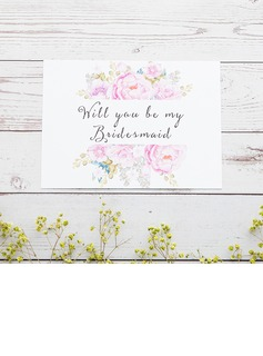 Bridesmaid Gifts - Classic Elegant Paper Wedding Day Card (256176217)