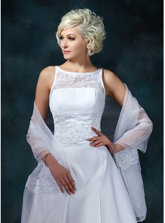Lace Organza Wedding Shawl (013022598)