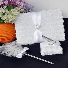 Lovely Rose Satin Sash Guestbook/Pen Set (101018139)
