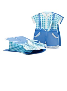 Baby Dress Design Cuboid Favor Bags With Ribbons (050052049)