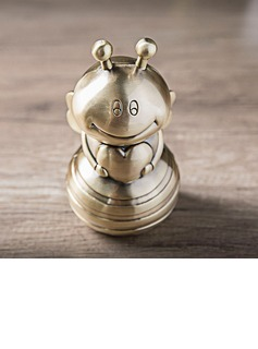 The Diligent Bee Gold Piggy Bank Valentine's Day and Wedding Gift (Sold in a single) (051178625)
