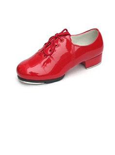 Patent Leather Flats Tap Ballroom Dance Shoes With Lace-up (053024330)