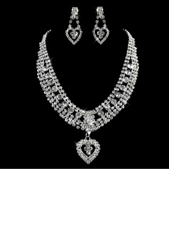Gorgeous Alloy/Rhinestones Ladies' Jewelry Sets (011005859)