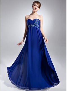 Empire Sweetheart Floor-Length Chiffon Prom Dress With Ruffle Beading (018015633)