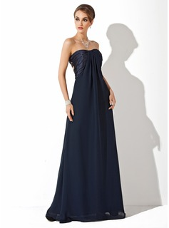 Empire Sweetheart Floor-Length Chiffon Evening Dress With Ruffle (017025916)
