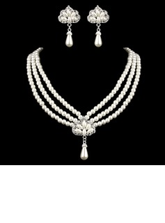 Elegant Alloy With Pearl Rhinestone Ladies' Jewelry Sets (011005555)
