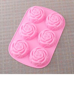 Rose Design Silikon Kake Mold (051053250)