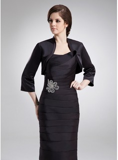 3/4-Length Sleeve Satin Special Occasion Wrap (013016908)