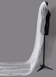 Uno capa Con abalorios Velos de novia catedral con Cuentas (006203719)