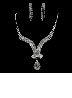 Gorgeous Alloy With Rhinestone Ladies' Jewelry Sets (011006363)