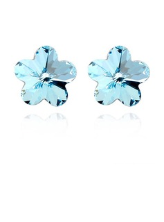 Flower Shaped Alloy With Imitation Crystal Ladies' Fashion Earrings (011040131)