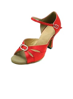 Satin Heels Sandals Latin Ballroom Dance Shoes (053013179)