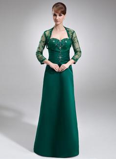 A-Linie/Princess-Linie Herzausschnitt Sweep/Pinsel zug Satin Kleid für die Brautmutter mit Rüschen Spitze Perlen verziert (008006213)