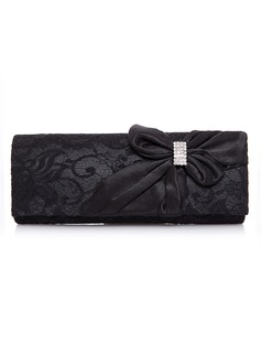 Gorgeous Nylon With Lace/Rhinestone Clutches (012025170)