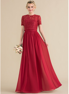 A-Line/Princess Sweetheart Floor-Length Chiffon Bridesmaid Dress (007131064)