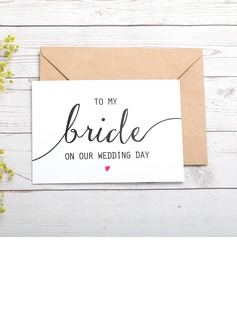 Bride Gifts - Classic Paper Wedding Day Card (255184421)