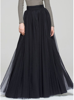 A-Line/Princess Floor-Length Tulle Cocktail Dress (016087553)