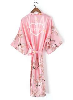 personnalisé charmeuse la mariée Demoiselle d'honneur Maman Demoiselle d'honneur junior Robes Florales Robes Brodées (248199950)