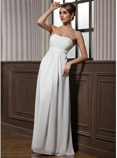 Empire Sweetheart Floor-Length Chiffon Bridesmaid Dress With Ruffle Beading (007001846)