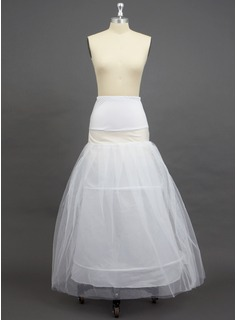 Women Tulle Netting/Polyester/Spandex Floor-length 2 Tiers Petticoats (037033983)