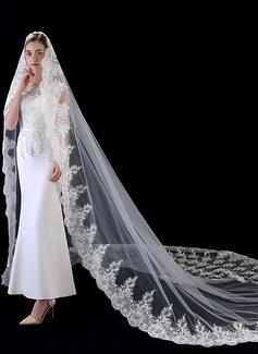 Uno capa Con Aplicación de encaje Velos de novia capilla con Encaje (006201034)