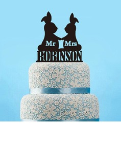 Mr & Mrs Acrilico Decorazioni per torte (119197313)